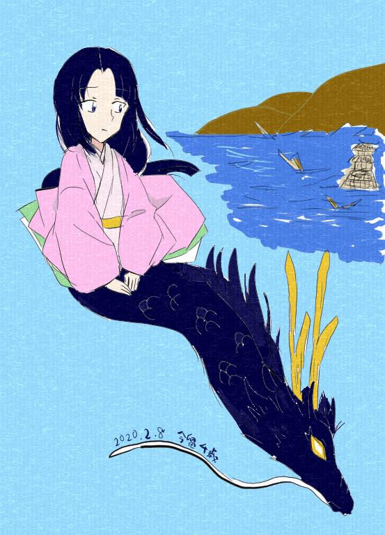 黒姫伝説の黒龍と黒姫