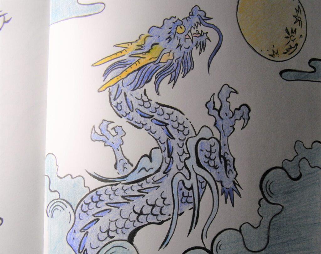 【写龍を色鉛筆で塗ってみた】写龍で気付く、自分の変化